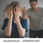 angry father yelling at his...   Shutterstock . vector #1046909104