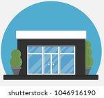 city cafe. a restaurant....   Shutterstock .eps vector #1046916190