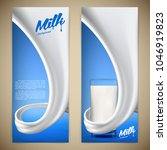 milk design flyer vector... | Shutterstock .eps vector #1046919823
