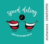 speed dating design with chatty ... | Shutterstock .eps vector #1046924950