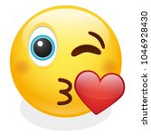 kiss  expression emoji smiley... | Shutterstock .eps vector #1046928430