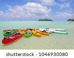 landscape view of colourful... | Shutterstock . vector #1046930080