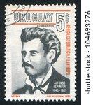 uruguay   circa 1971  stamp... | Shutterstock . vector #104693276