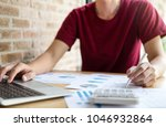 young male working analysis...   Shutterstock . vector #1046932864
