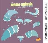 water splash water cute splash... | Shutterstock .eps vector #1046933518