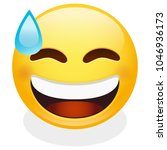 sweat tear expression emoji... | Shutterstock .eps vector #1046936173