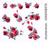 floral arrangements in small... | Shutterstock .eps vector #1046938570