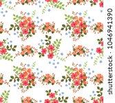 seamless gorgeous bright... | Shutterstock . vector #1046941390