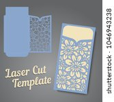lasercut vector wedding... | Shutterstock .eps vector #1046943238