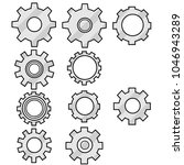 a set of 10 grey cogwheel icon... | Shutterstock .eps vector #1046943289