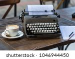 writing and freelance concept.... | Shutterstock . vector #1046944450