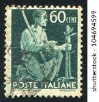 italy   circa 1945  stamp... | Shutterstock . vector #104694599