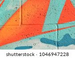 abstract street art spray paint ... | Shutterstock . vector #1046947228