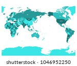 world map in four shades of... | Shutterstock .eps vector #1046952250