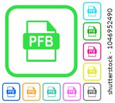 pfb file format vivid colored... | Shutterstock .eps vector #1046952490