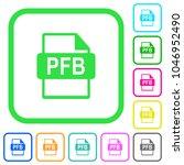 pfb file format vivid colored... | Shutterstock .eps vector #1046952490