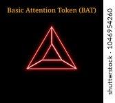 red neon basic attention token  ... | Shutterstock .eps vector #1046954260