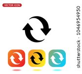 update icon vector. refresh... | Shutterstock .eps vector #1046954950