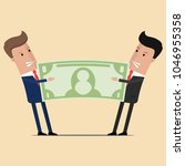 two businessman conflict share... | Shutterstock .eps vector #1046955358