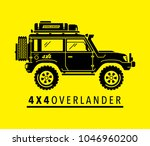 extreme off road 4x4 all... | Shutterstock .eps vector #1046960200