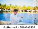 working on laptop from the...   Shutterstock . vector #1046962390