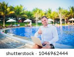 working on laptop from the...   Shutterstock . vector #1046962444