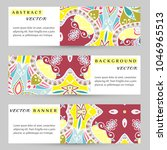 colorful banners  headers set.... | Shutterstock .eps vector #1046965513
