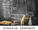 beer science   black board with ... | Shutterstock . vector #1046966650