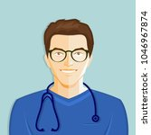 young male medical doctor with...   Shutterstock .eps vector #1046967874