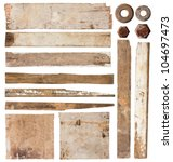 old wood plank isolated on... | Shutterstock . vector #104697473