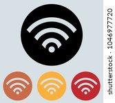 wi fi free round icon  glyph...