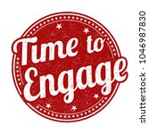 time to engage grunge rubber...   Shutterstock .eps vector #1046987830