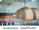 freshly baked artisan bread ...   Shutterstock . vector #1046991490