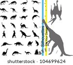 vector dinosaurs. | Shutterstock .eps vector #104699624