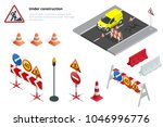 road repair  under construction ... | Shutterstock .eps vector #1046996776