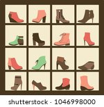 vector collection of shoes on... | Shutterstock .eps vector #1046998000