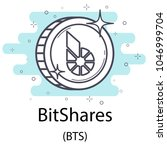 white bitshares cryptocurrency... | Shutterstock .eps vector #1046999704