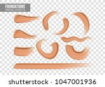set of special effects... | Shutterstock .eps vector #1047001936