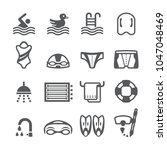 swimming icon set | Shutterstock .eps vector #1047048469