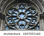 round window with stained glass ...