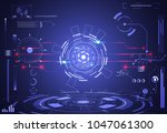 abstract technology background... | Shutterstock .eps vector #1047061300