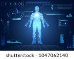 abstract health hud ui... | Shutterstock .eps vector #1047062140