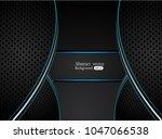 abstract metallic blue black... | Shutterstock .eps vector #1047066538