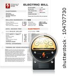 detailed electric bill with... | Shutterstock .eps vector #104707730