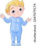 illustration of cute creeping... | Shutterstock .eps vector #1047079174