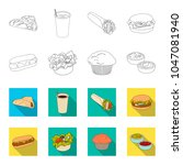 food  rest  refreshments  and... | Shutterstock .eps vector #1047081940