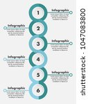 circle vector infographic of 6...