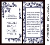 invitation with floral... | Shutterstock .eps vector #1047086023