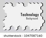 hexagonal solids with line ... | Shutterstock .eps vector #1047087160