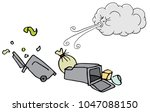 an image of a windy day trash... | Shutterstock .eps vector #1047088150